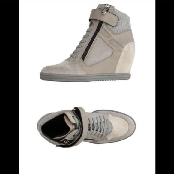 Hogan Shoes | Hogan Wedge Rebel Sneakers 39 Excellent | Poshmark